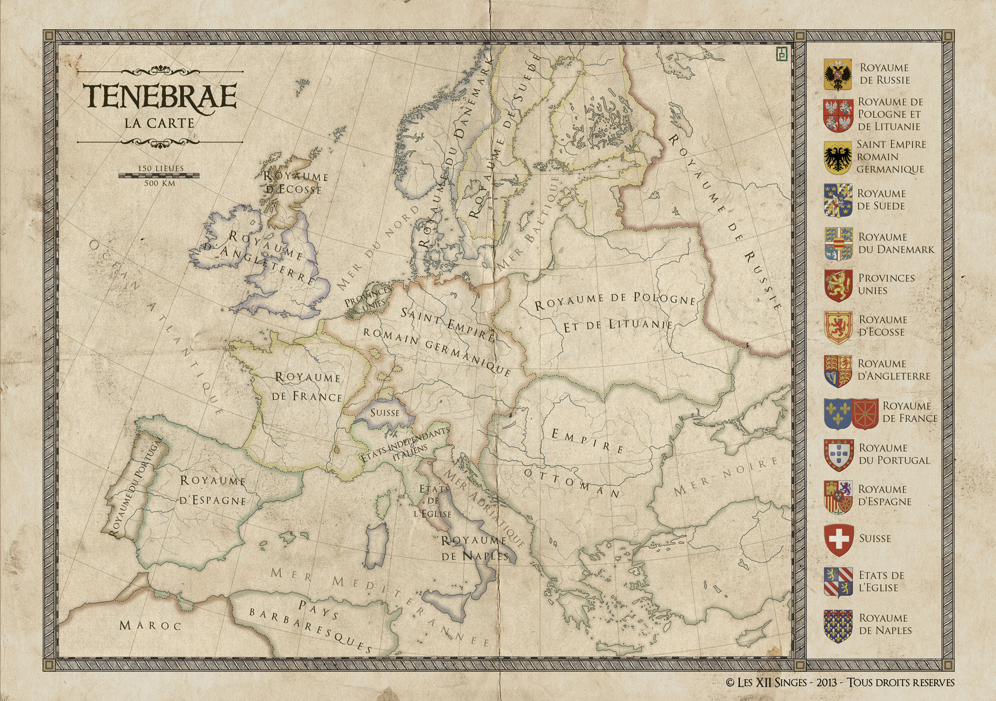 Tenebrae : Europe. Commission for Tenebrae RPG - 