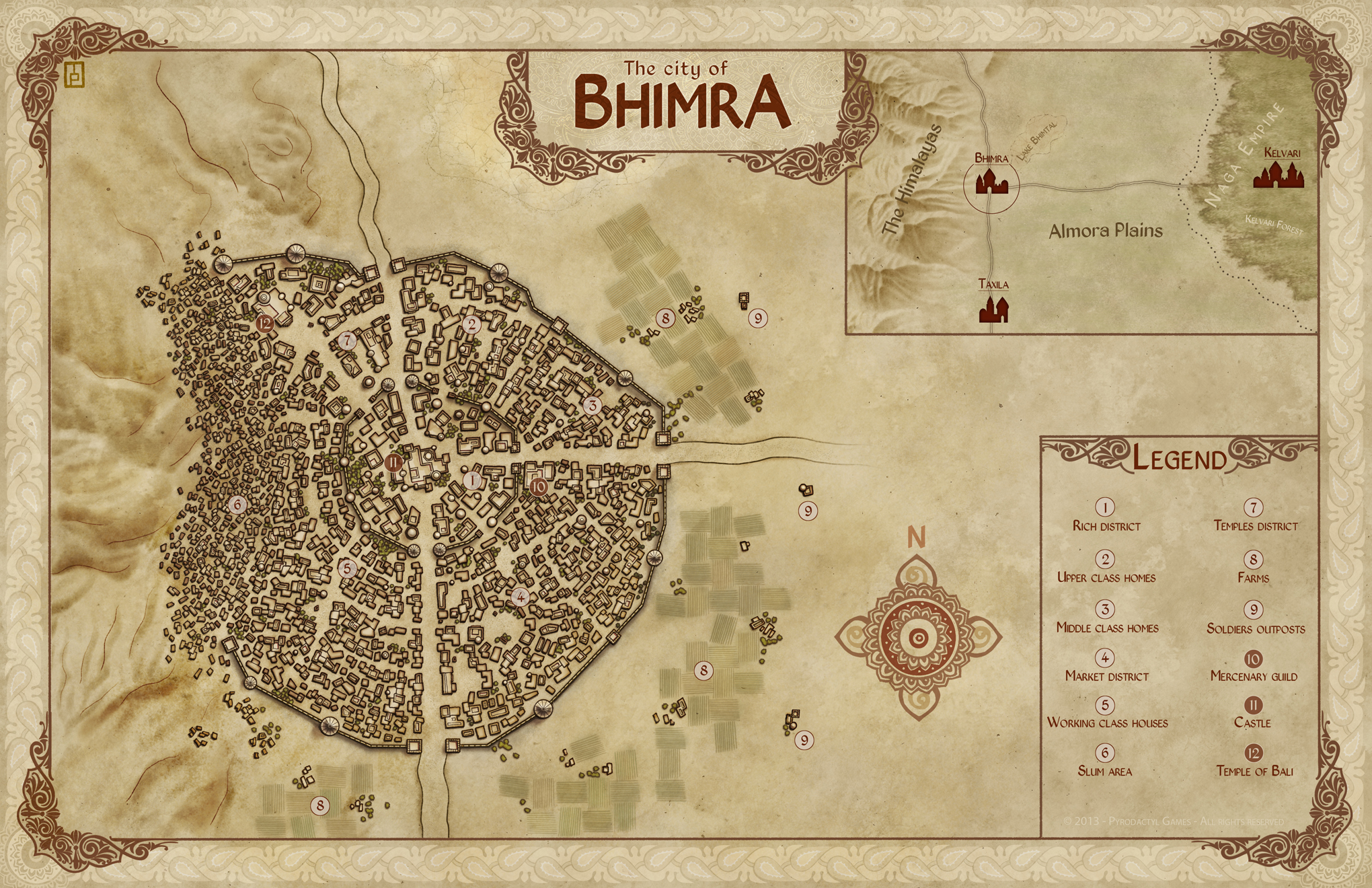 City of Bihmra - Commission for webgame Unrest by Pyrodactyl Games.