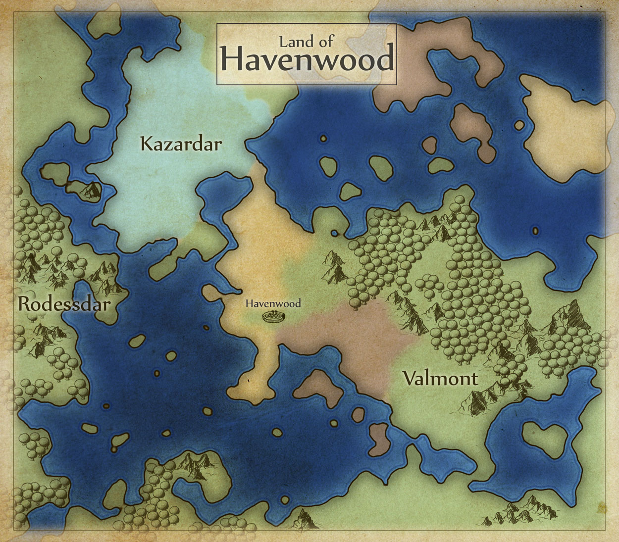 Havenwood World Map.