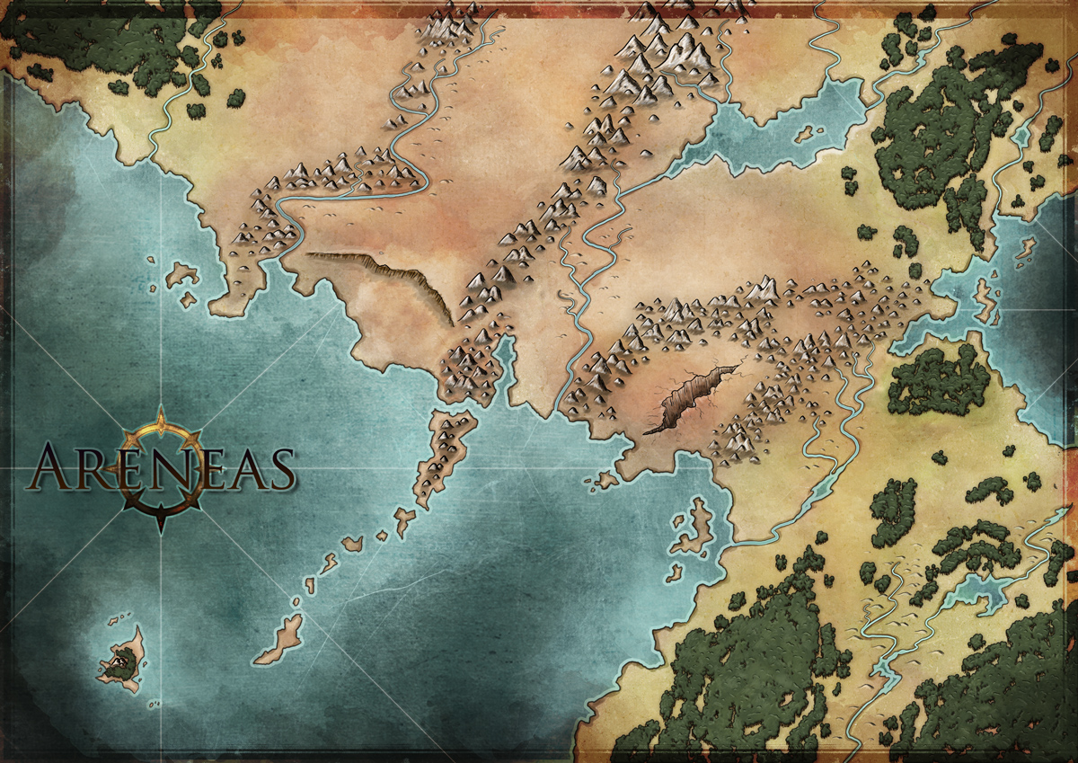 World Map work in progress. For a personal game.