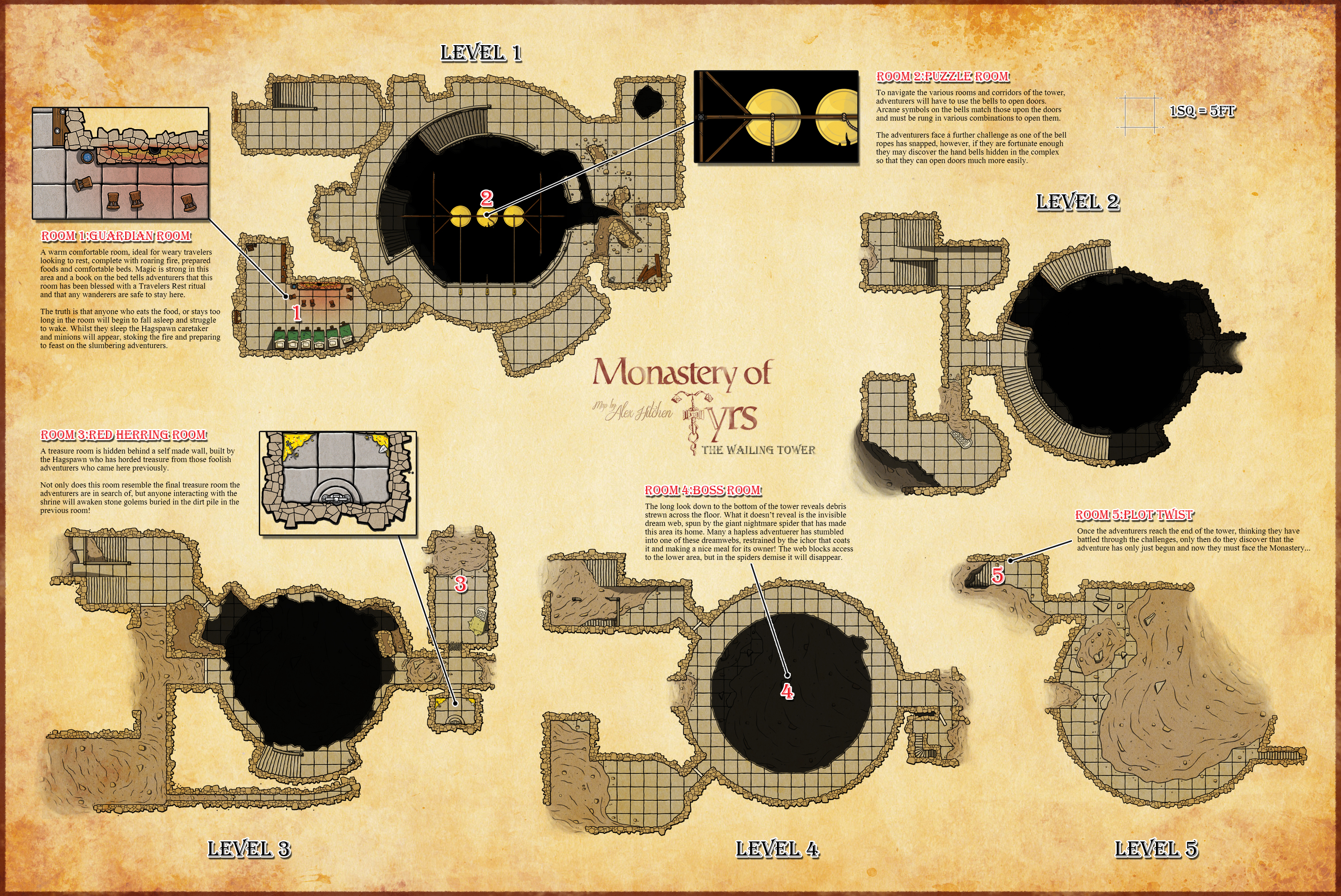 Monastery of Tyrs - Tower Approach