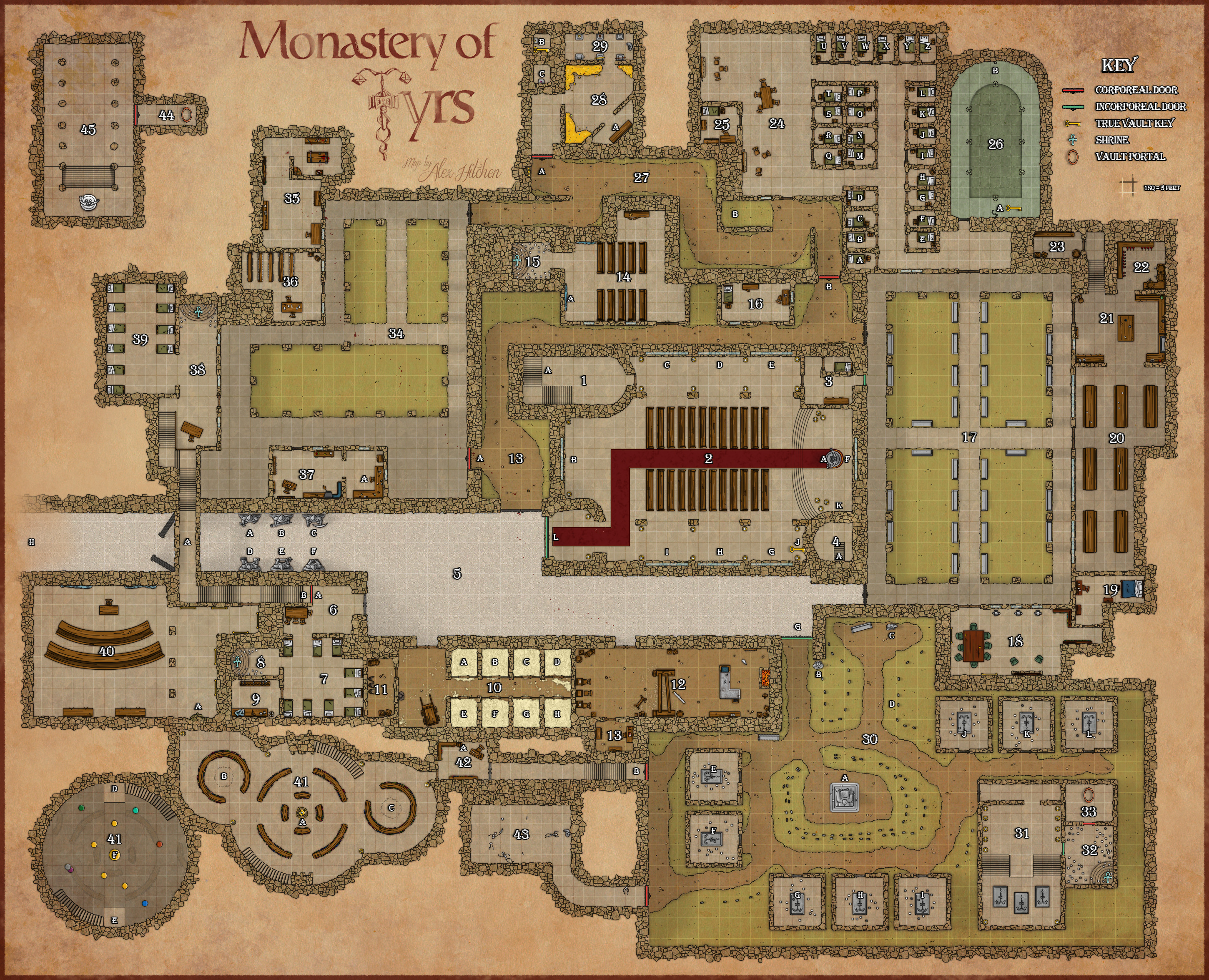 Monastery of Tyrs - Final GM Map