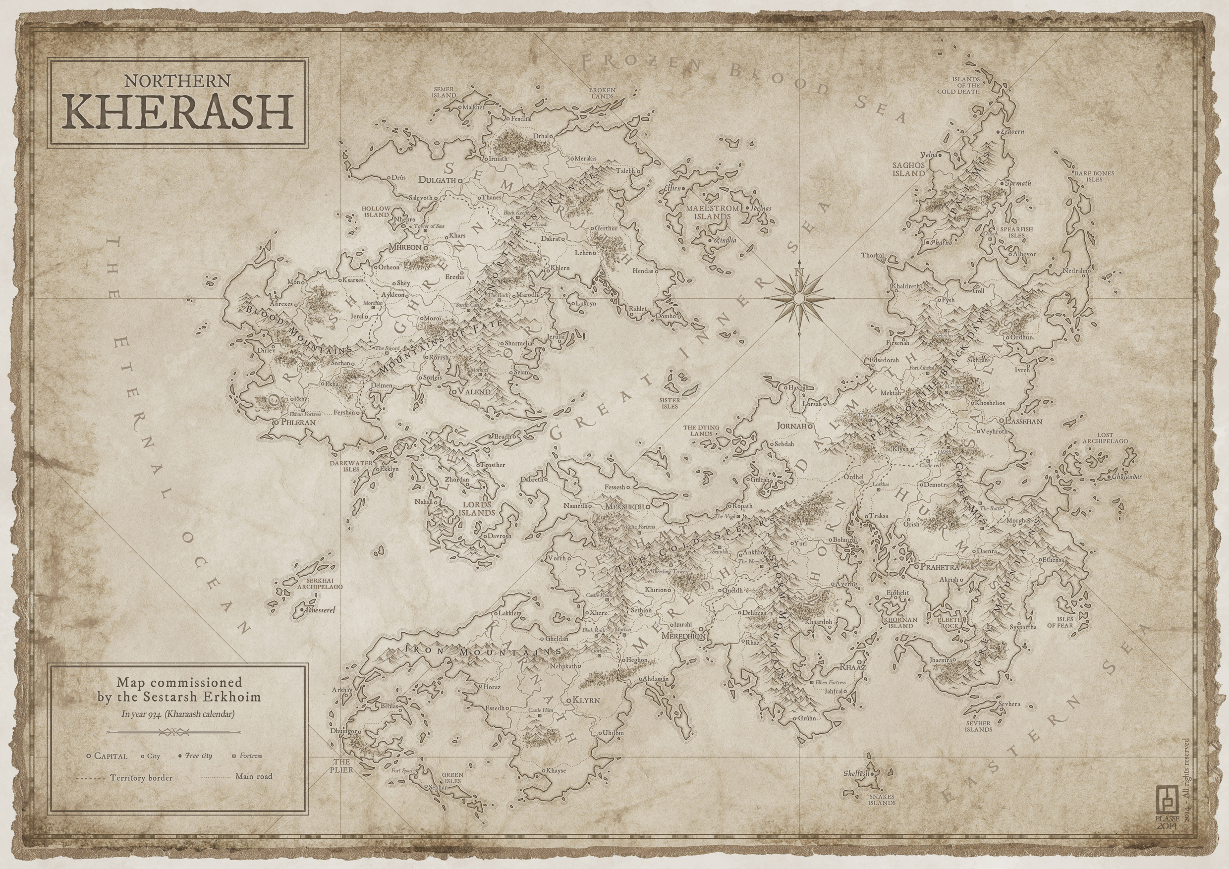 Kherash, private commission for a RPG setting.