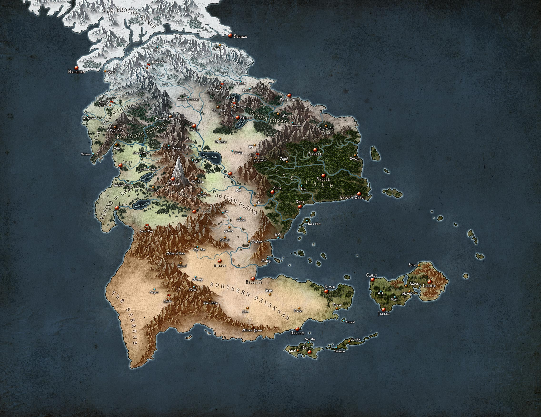 Graphic Novel Map