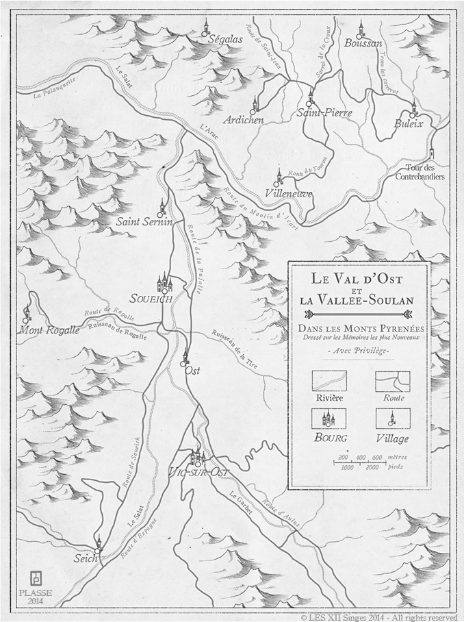 Tenebrae - Ost et Soulan - Commission map for the RPG Tenebrae