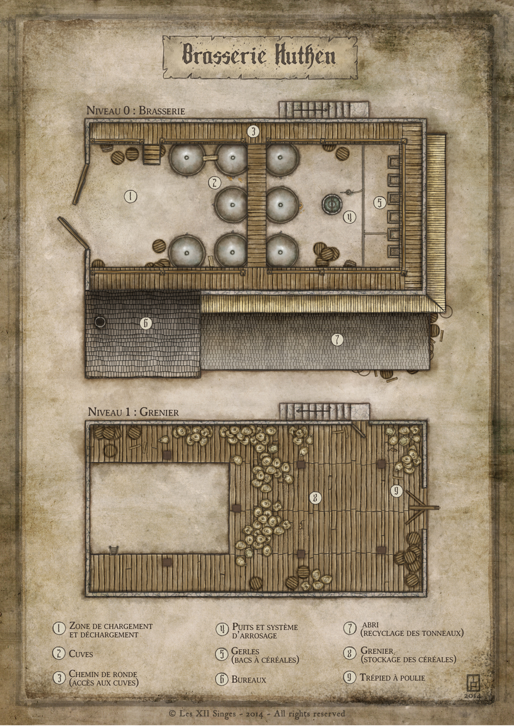 Hutken's Brewery - commission for the french RPG Wastburg.