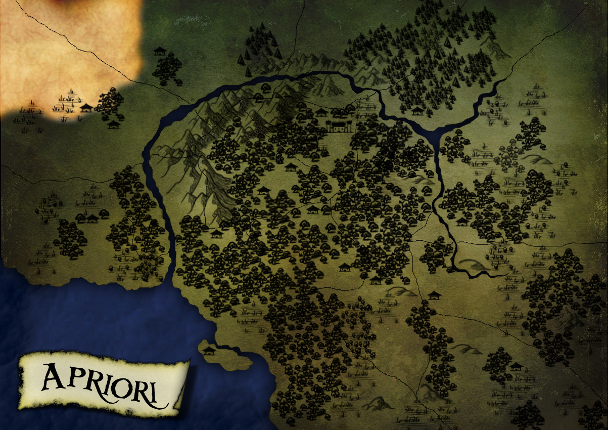 I map I created for a friend of mine. Made in GIMP using brushes from DeviantART.