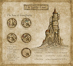 "The Guild's Tower - My entry for the CG February challenge ""Map the Guild"" 1st place (in a tie)    � 2014 - All rights reserved"