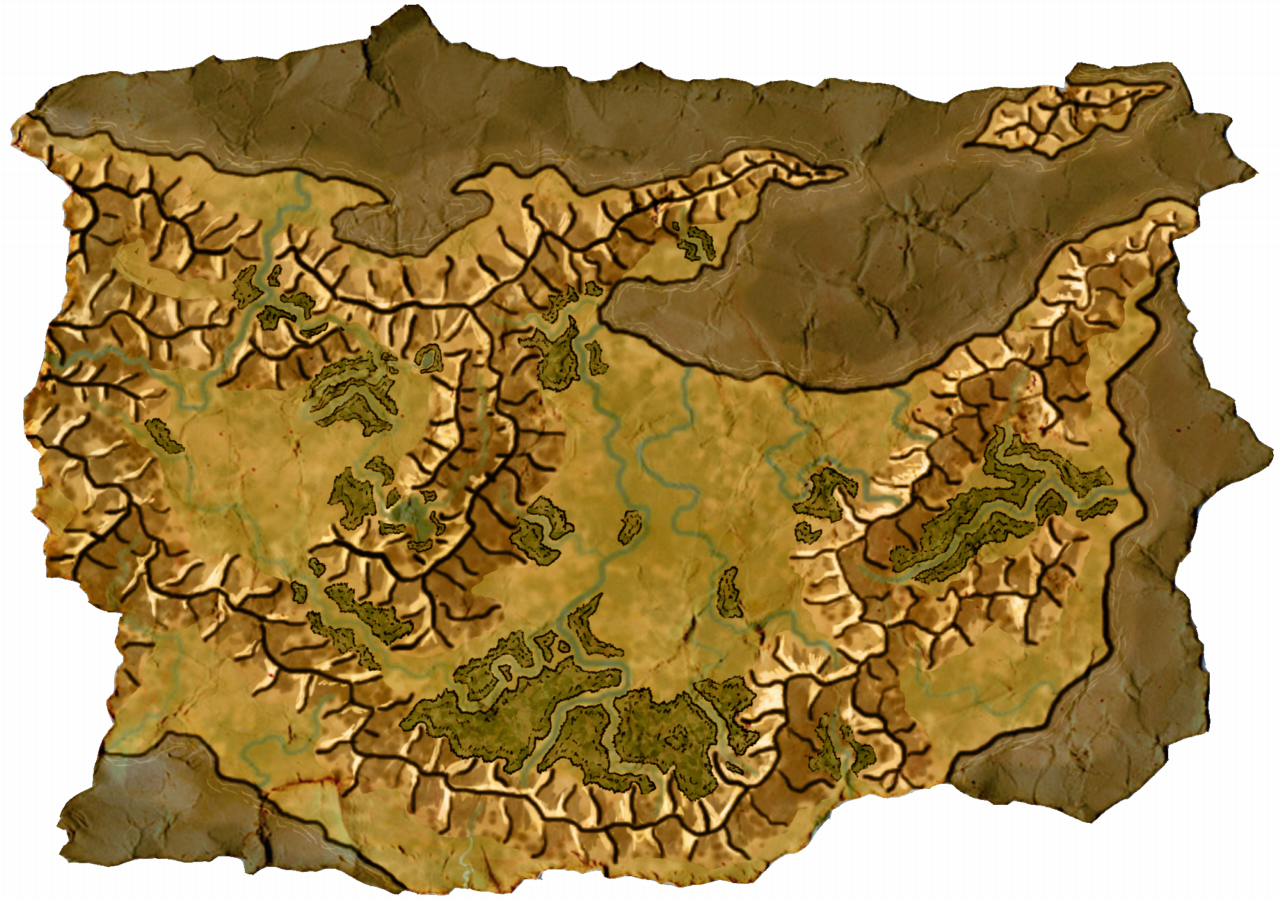 Cobalt Valley. Map for my next RPG adventure.