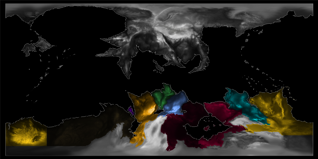 territories regions masking WIP for Anne McCaffrey's Pern