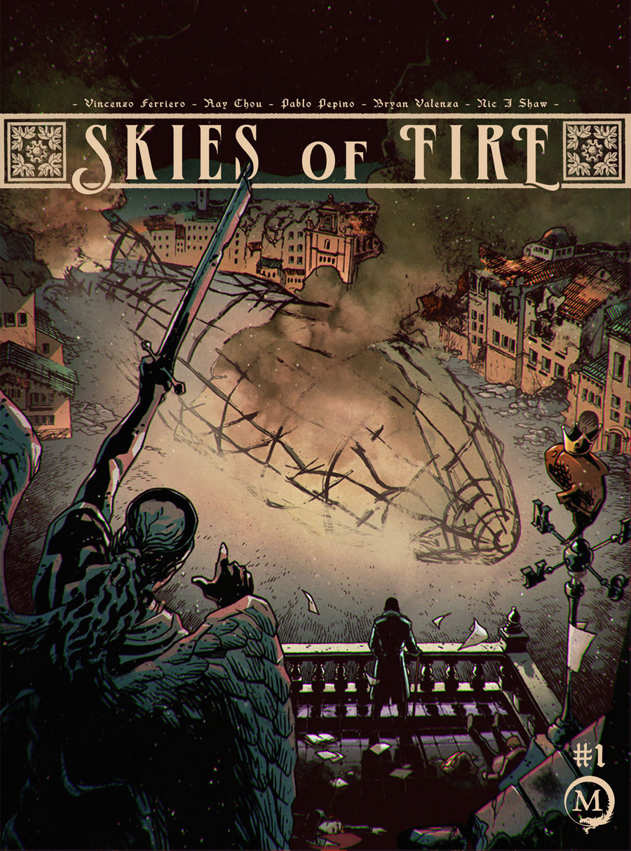 Skies of Fire Cover Typography