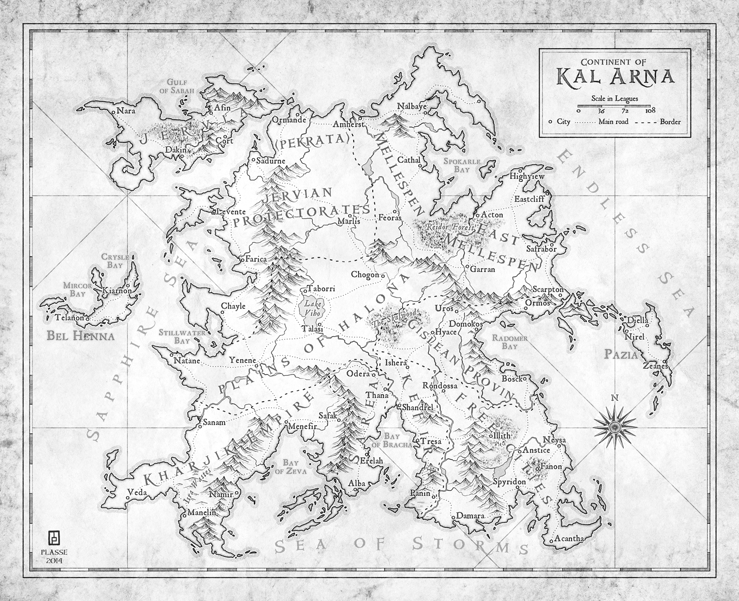 """Kal Arna  - commission for writer Matt Karlov  � 2014 - All rights reserved  """"Max took my rough sketches and turned them into a beautiful set of maps.  He was very professional and very accommodating of the various tweaks and adjustments I requested to get the maps just right.  I'm delighted with the end result, and I plan to hire Max again whenever I need any new maps."""" M.Karlov"""