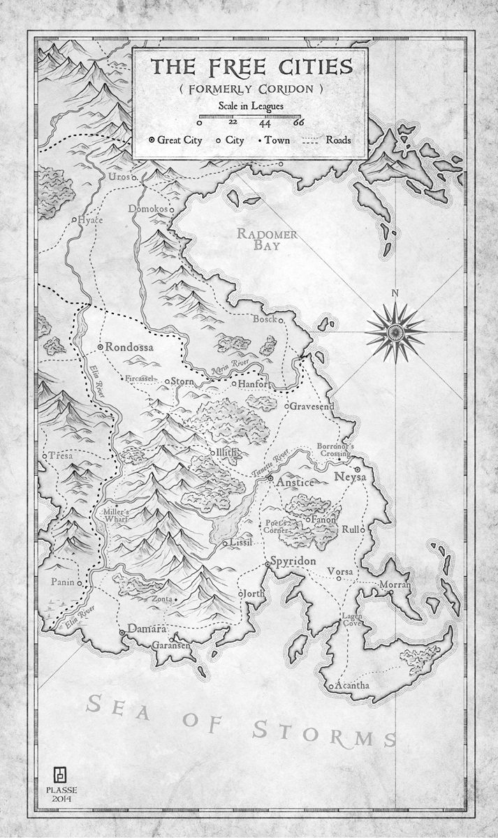 The Free Cities - commission for the writer Matt Karlov
