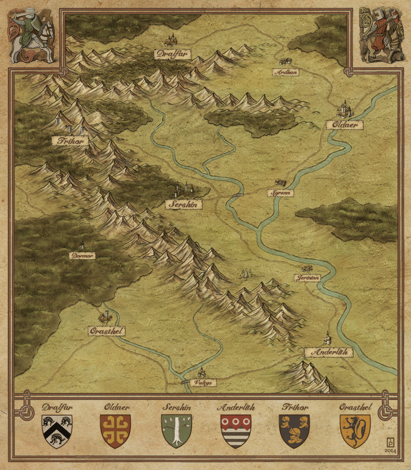 Lands of Yvrian - commission for a web game project