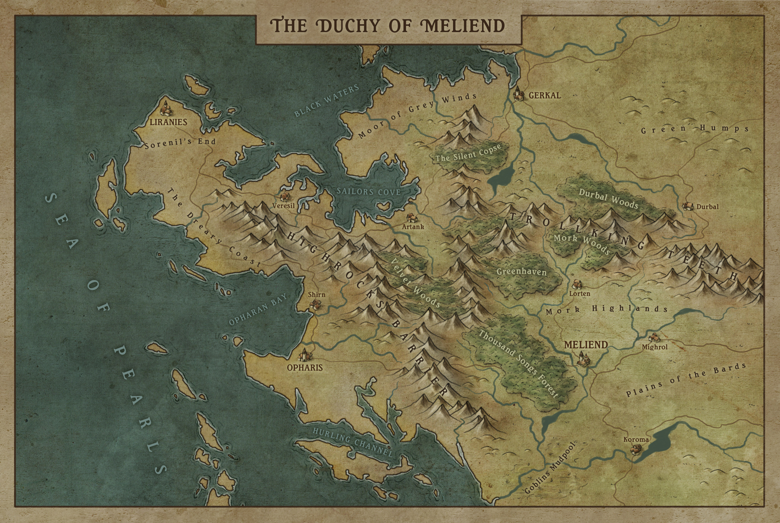 Duchy of Meliend -personnal work