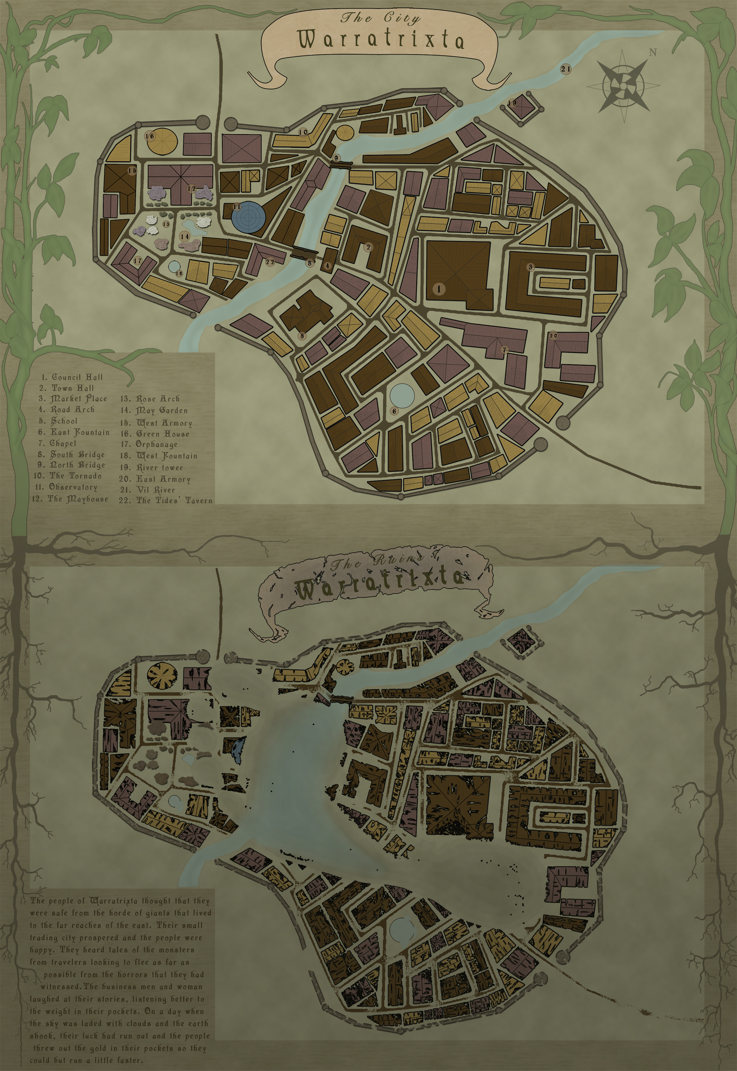 The Fall of Warratrixta.  A map I did for a Guild challenge.
