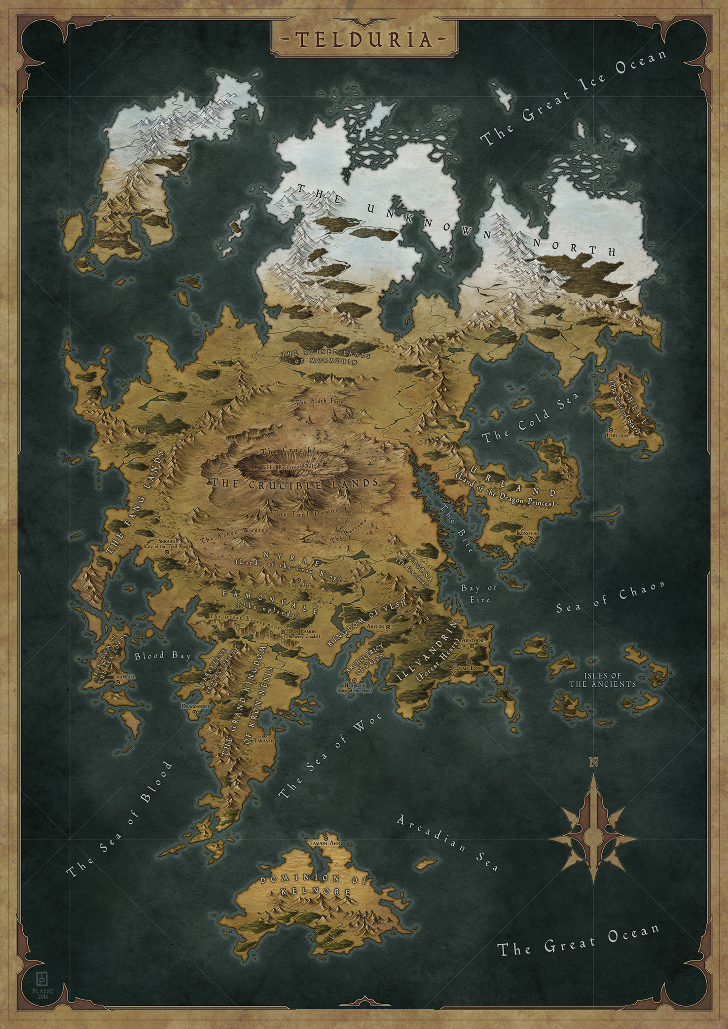 Telduria - Commission map for a RPG Club.  � 2014 - All rights reserved