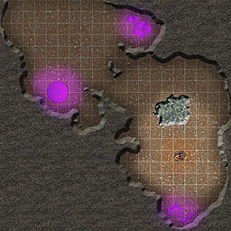 A random cave with campfire.  Mostly produced for for experimental purposes.  100px to the five foot square.  With grid.