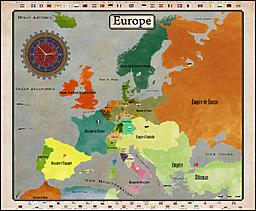 Steampunk map of Europe. Historical map.     Made with illustrator and photoshop.