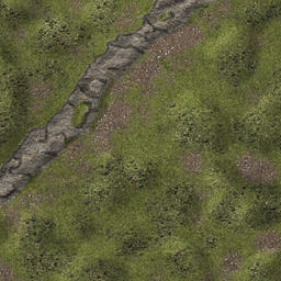 plains1, a generic plains area with a small cliff.  Scale is 100px to the 5-foot square, dimensions are 20x20 squares. Also available with grid in...