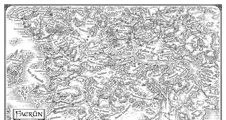 Faerun End Sheet Map By Mike Schley