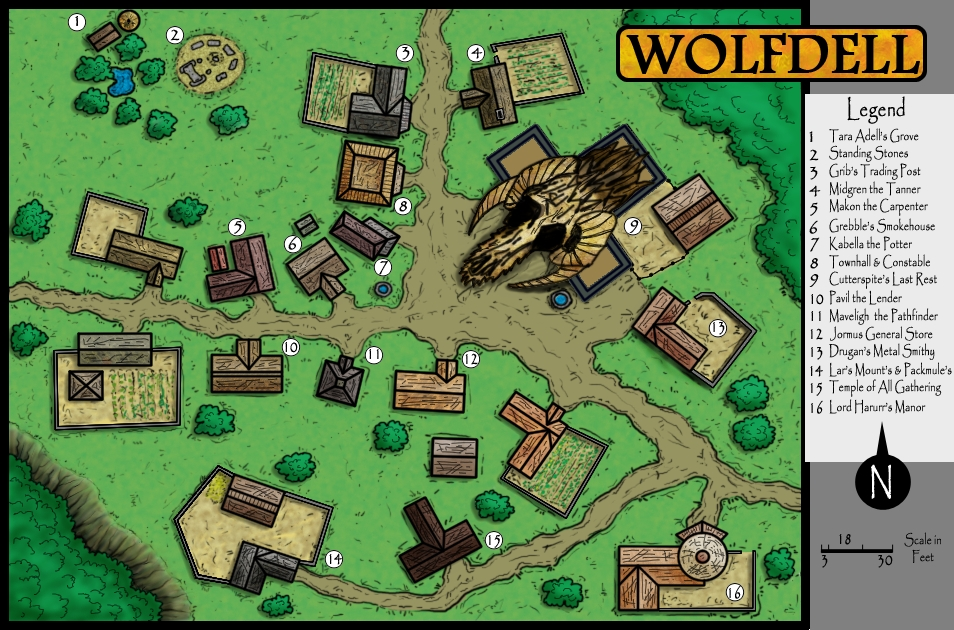 Wolfdell Village By Delgondahntelius